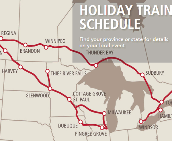 Holiday Train Schedule Lake Superior Region