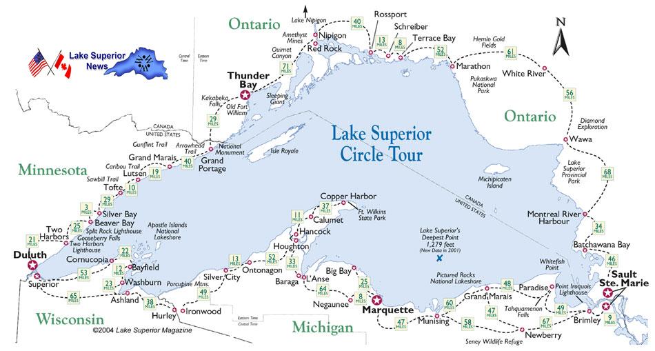 Travel Map Information Travel Lake Superior